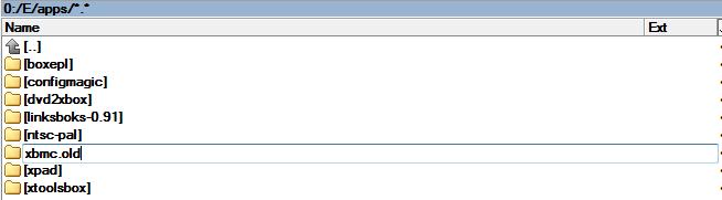 Zmiana nazwy katalogu XBMC na XBMC.old
